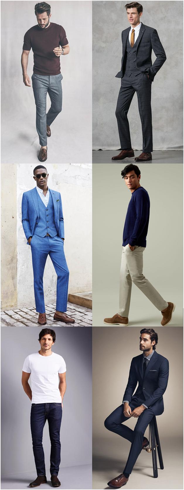 کفش های قهوه ای - ترکیب رنگ کفش مردانه - پیرکاردین