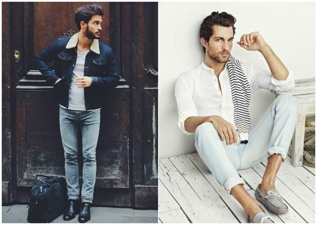 شلوار جین مردانه طوسی - خرید لباس مردانه پبرکاردین