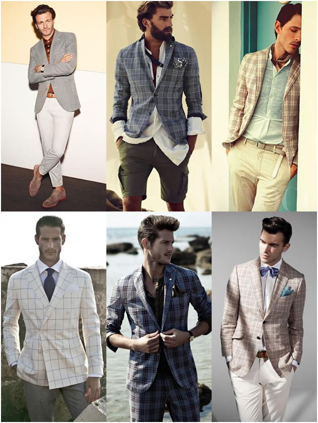 کت بلیزر شطرنجی - خرید لباس مردانه پیرکاردین - کت تک پیرکاردین