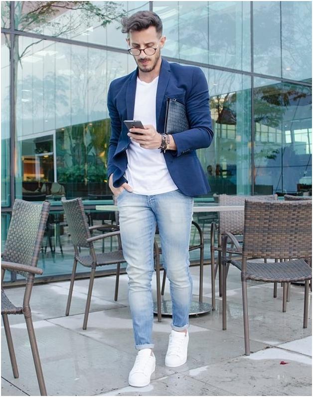چگونه کت بلیزر را با شلوارجین بپوشیم - خرید لباس مردانه پیرکاردین