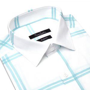 پیراهن سفید شطرنجی
