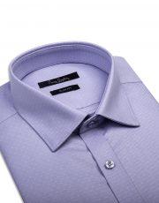پیراهن آبی خال خال سفید