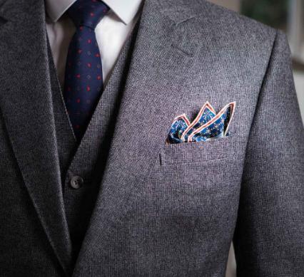 آموزش تا زدن دستمال جیبی + تصاویر