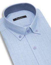 پیراهن آبی روشن طرح محو