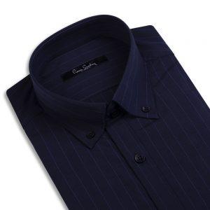 پیراهن سورمه ای راه دار