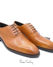 کفش چرم عسلی